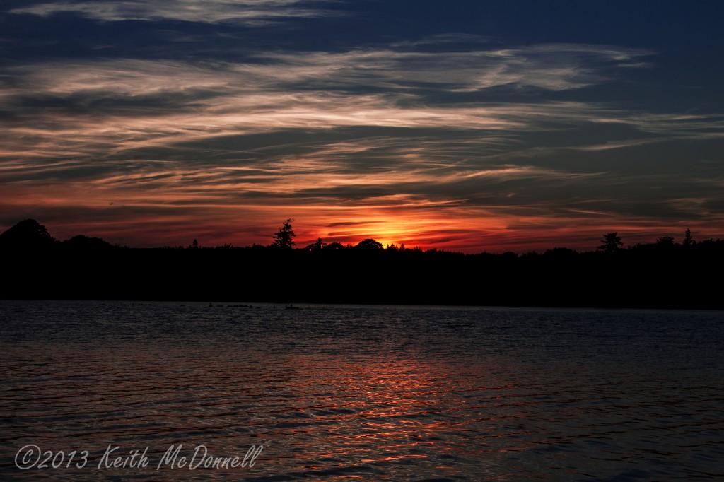 Sunset on an Irish Lough
