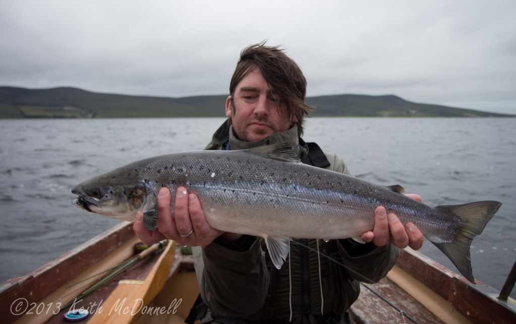 Fly fishing for lough Salmon